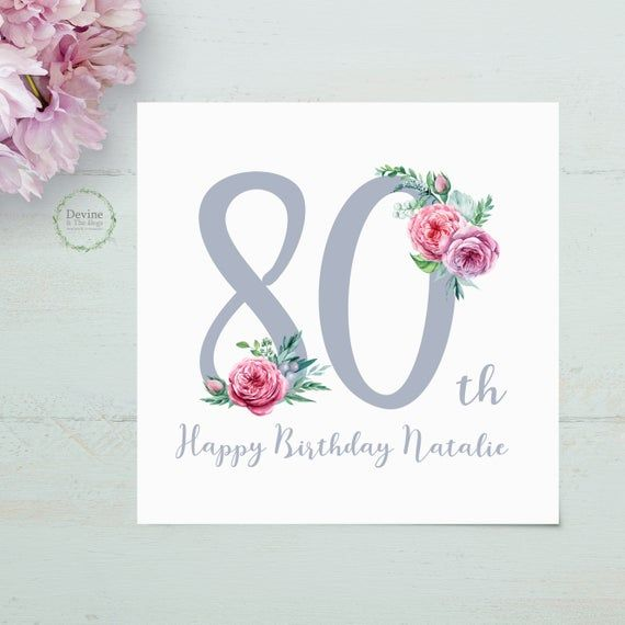 Personalised Birthday Card 80th Birthday Card 80 Card Etsy 80th Birthday Cards Birthday Cards Personalized Birthday Cards