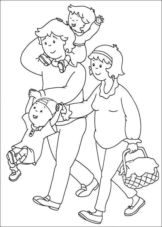 Kleurplaat gezin