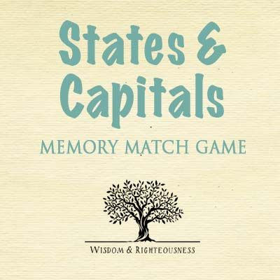My family loves to use games to squeeze in memory work review. Especially if I have a Memory Master in the house (see this post)! I am excited to share with you two Review Game Downloads for use with Cycle 3!  The first is a States and Capitals Memory Match Game – just download,…