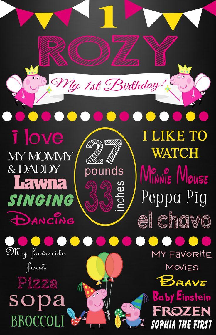 Peppa Pig milestone poster