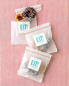 Stitching, glassine bags and pretzels - what more could you want?