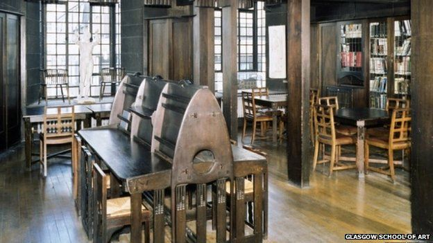Mackintosh library - Not sure if this survived a fire 5/23/14 - hope so - looks beautiful.