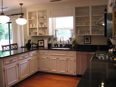 In Love With This Kitchen Remodel. Yup, White Cabinets And Black Granite  Counter Tops