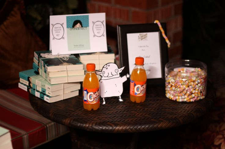 Teeny bottles of Cadet orange were possibly the cherry on the top of our 90s themed cake