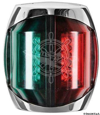 Osculati Sphera II Watertight Polished SS Body Bicolor LED Navigation Light 2W