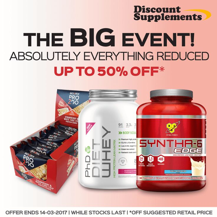 Everything REDUCED! The Big Event Is Back  www.discount-supplements.co.uk #protein #USN #PhD #OptimumNutrition #Grenade #MaxiNutrition #CNP #SciMX #ProteinBars #MealReplacement #WeightGainers #AmimoAcid #BodyBuilding #Energy #Workout #FatLoss #CLA #GreenTea #WeightLoss #Gym