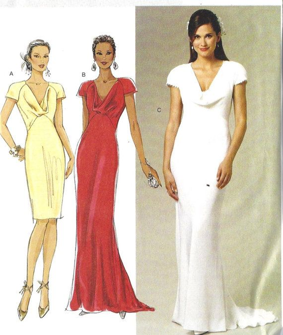 Bridesmaid Gown, Evening Dress, Dress Sewing Pattern, Pipa Middletons Bridesmaid Dress, Butterick Pattern BP250 6, 8, 10, 12, 14