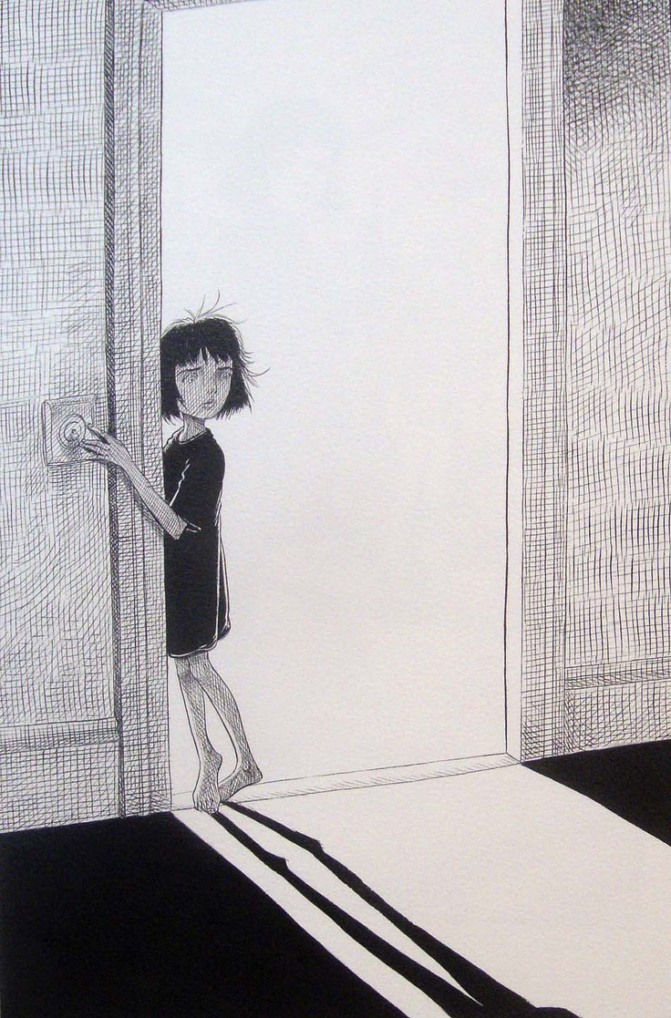 Coraline, Chris Riddell contrast, space, balance
