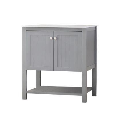 cool grey white bathroom vanity | Home Decorators Collection Cranbury 30 in. Vanity in Cool ...