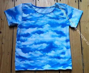 My first boy's dance costume, a cloud print spandex fabric dance top, perfect for:  boys lyrical solo dance costume boys modern solo dance costume boys jazz solo dance costume boys tap solo dance costume