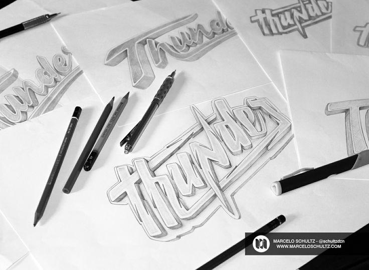 Thunder Sketch by Marcelo Schultz