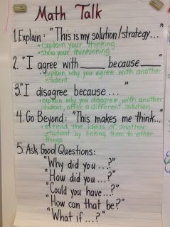 Math talk to engage in authentic math conversations.
