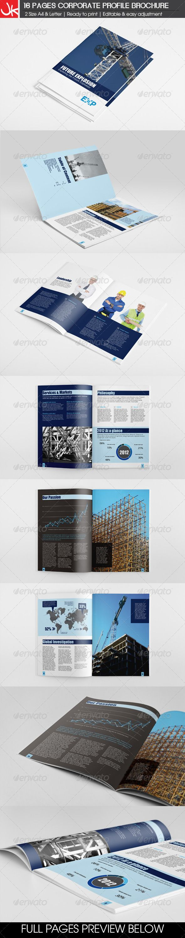 16 Pages Energy Construction Corporate Brochure  Template • Only available here ➝ http://graphicriver.net/item/16-pages-energy-construction-corporate-brochure/4406608?ref=pxcr