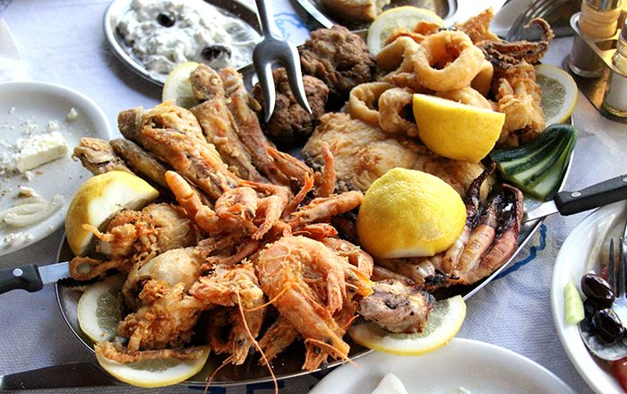VISIT GREECE  Seafood platter classic & traditional greek dishes by David Hoffmann