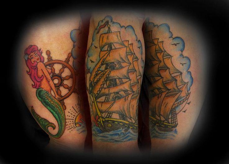 #tattoo #tattooartist #ink #inked #oldschool #oldschooltattoo #color #studio #bardo #studiobardo