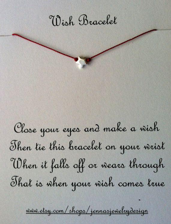 Wish Upon A Star, Sterling Silver, Friendship Bracelet, Charm Bracelet, Wish Bracelet