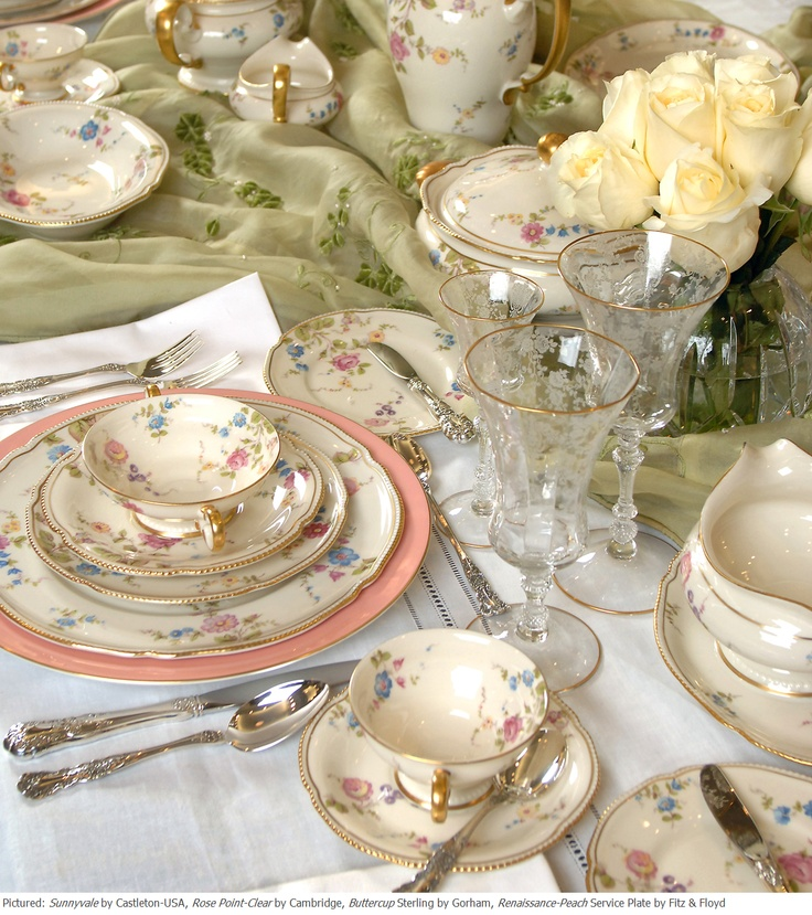 Elegant Pastel U0026 Floral Spring Themed Table Setting With  Amazing Design