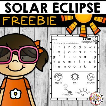 Will you be watching the 2017 solar eclipse on August 21, 2017? If so, here's a fun solar eclipse word search designed for K-1 students! Need more? Take a look at my Solar Eclipse Set! It includes an interactive book and several writing activities!