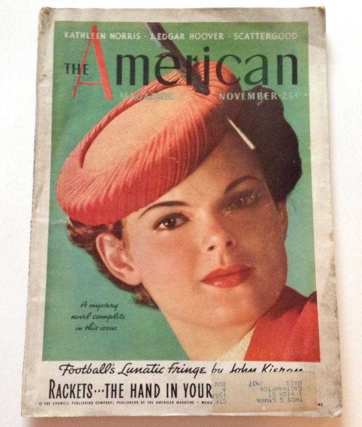 The American Magazine November 1936 J Edgar Hoover Alvin Karpis Crime Story