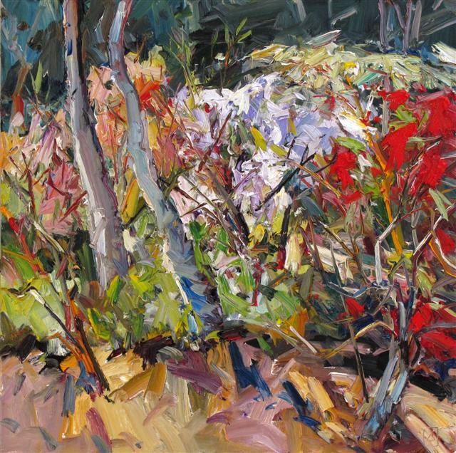 Painting : Studio Garden by John Badcock