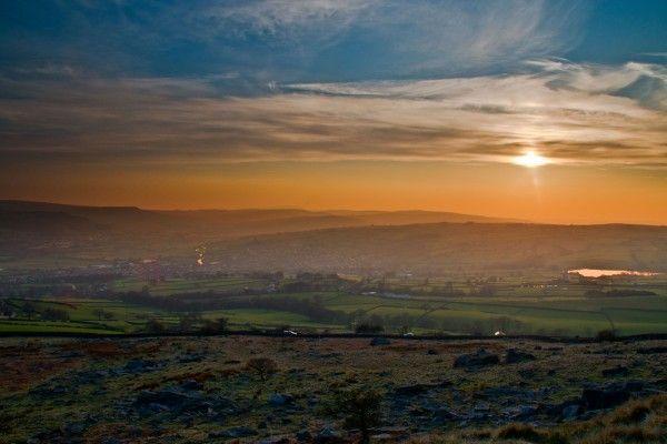 Silsden valley sunset