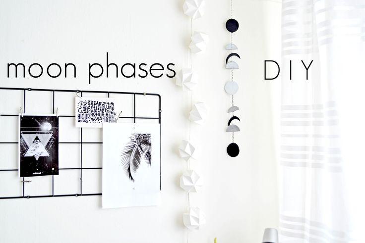 DIY dekoracje do domu - fazy księżyca | DIY moon phases |Cleo-inspire