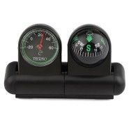 Adhesive Vehicle Car Boat Truck Navigation Compass Ball & Thermometer J6305