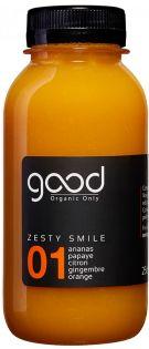 01 ZESTY SMILE Jus de fruits et légumes crus, bio, pressés à froid et fabriqués en France