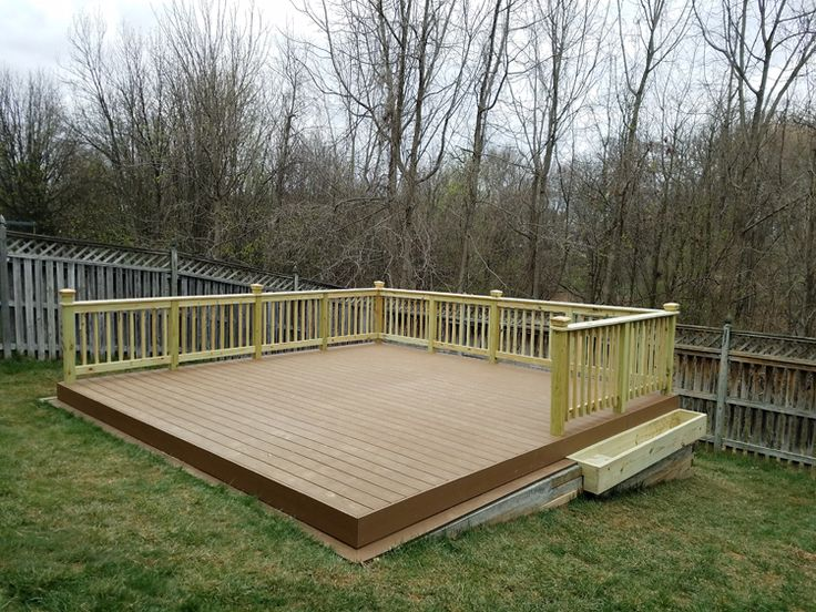 how to build a patio deck over grass