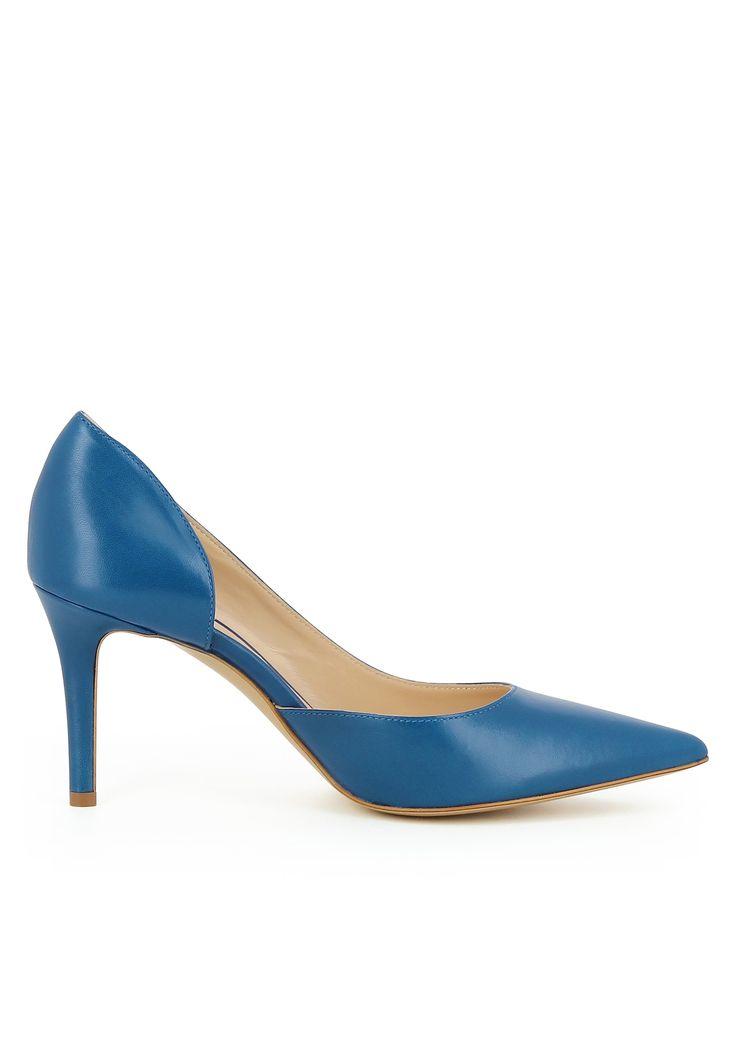 EVITA Pumps halboffen 'JESSICA' Damen, Blau, Größe 35