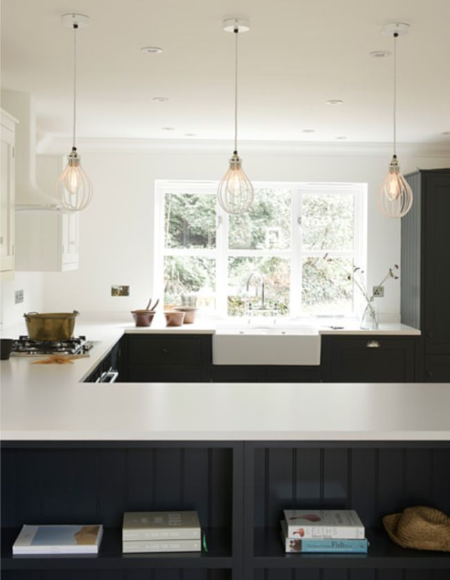 shaker kitchen lighting devol shaker kitchens design chic great pendant lights 2174