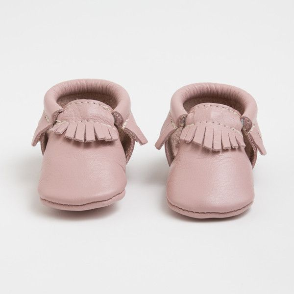 love this color for spring! . baby moccasins . alongcamemolly.com