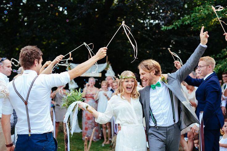 Annieundihno: Boho-Hippie-Hochzeit+im+eigenen+Garten