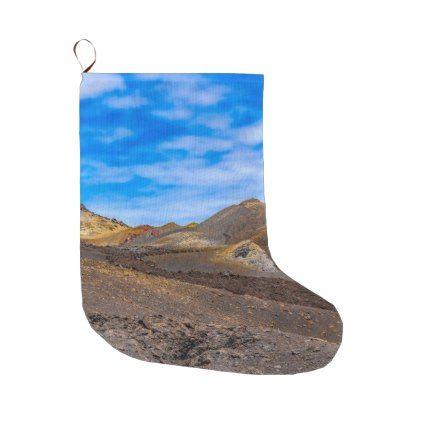 Sierra Negra Landscape Galapagos Ecuador Large Christmas Stocking - christmas stockings merry xmas cyo family gifts presents