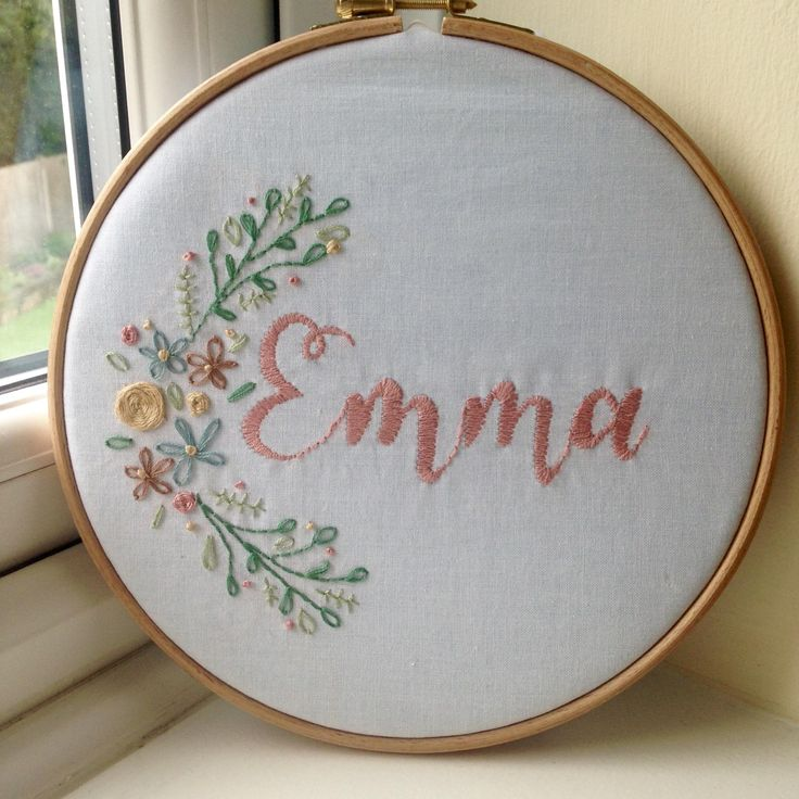 Embroidered name for a nursery! http://ift.tt/2cQLecE . how to make your own #crafts follow @cutephonecases