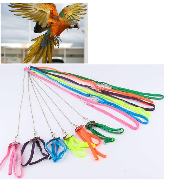 Huisdieren Papegaai Vogel Harnas & Leash Anti-bite Verstelbare Multicolor Licht Zachte Papegaai Harnas