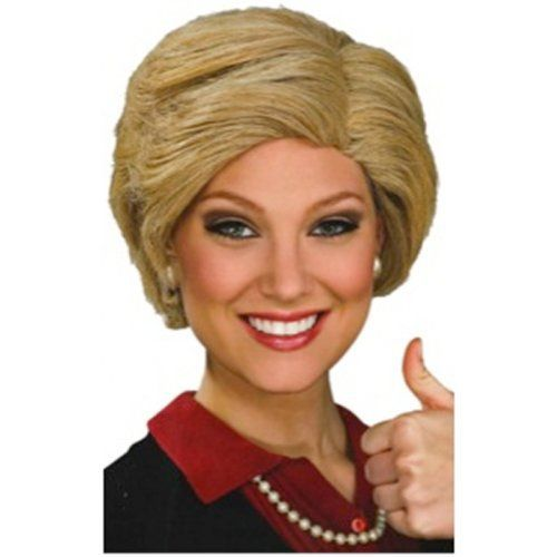 Hillary Clinton Wig Costume Accessory - Though if you search you'll find different Hillary Clinton wigs for your costume needs. #Elections2016Costumes