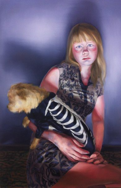 Girl With Dog, 130x85cm