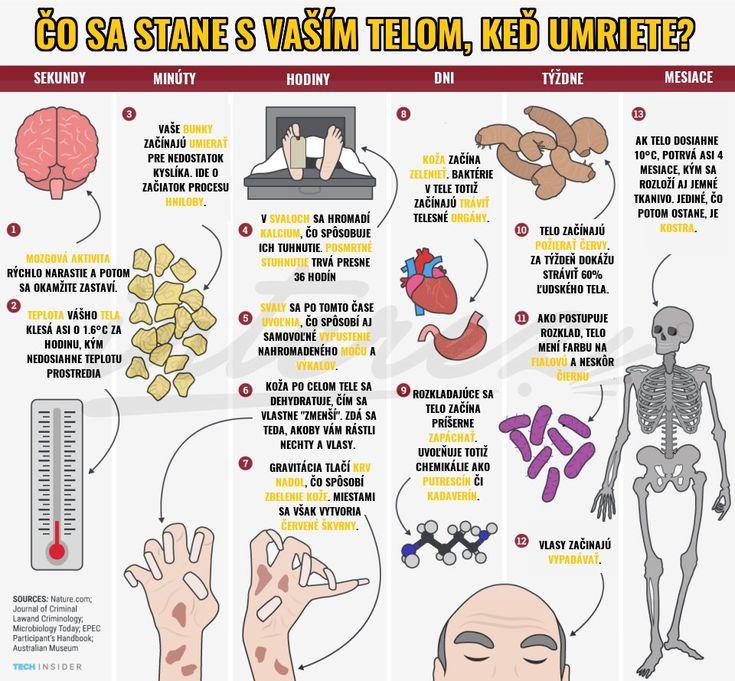 To, čo sa deje s ľudským telom po smrti človeka, je skutočne desivé