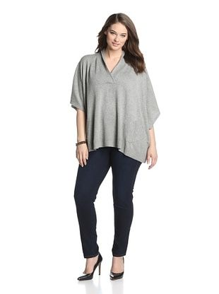 83% OFF Acrobat Plus Women's Cashmere and Silk Blend V-Neck Sweater (Pepper)