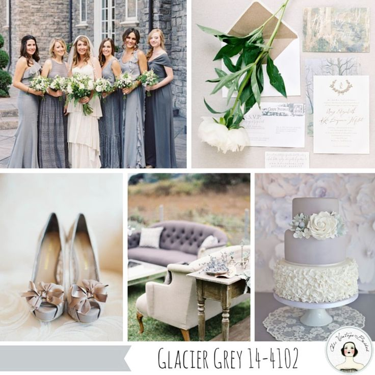 Glacier Grey Wedding Inspiration Top 10 Wedding Colours for Spring 2015 from Pantone