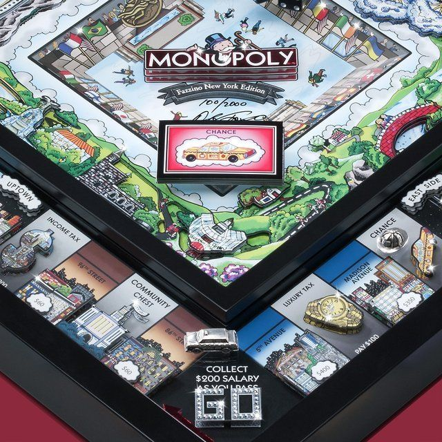 3D Monopoly New York Limited Edition / This 3D Monopoly New York Limited Edition combines an oversized game of Monopoly with the creative genius and artistic talent of Charles Fazzino. http://thegadgetflow.com/portfolio/3d-monopoly-new-york-limited-edition/