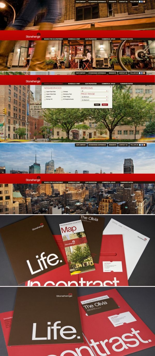 @Stonehenge NYC / Interactive Web Design / Digital Agency: HZDG #Design #Branding #HZDG #RealEstate