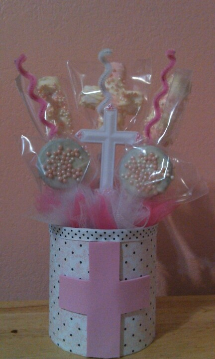 Ideas about boy baptism centerpieces on pinterest
