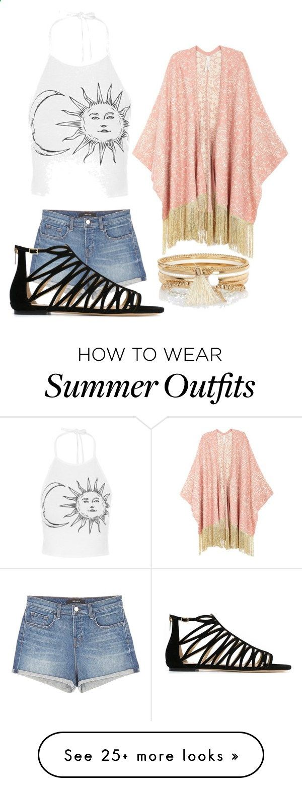 Summer outfit by madisonfogle on Polyvore featuring Melissa McCarthy Seven7, J Brand, Jimmy Choo, River Island and plus size clothing