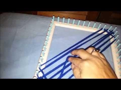Taller -- Tejer con un telar cuadrado - YouTube