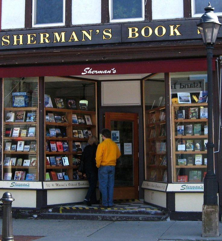 Sherman's Books and Stationery - terrific independent bookstore - locations in Boothbay, Bar Harbor, Camden, and Freeport