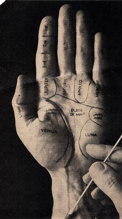 """""""Planetary Palms from a 1964 scientific american magazine…""""Palmistry, Maps, The Universe, The Body, Magazines Ads, Healing Hands, Hands Drawn, Palm Reading, Palms Reading"""
