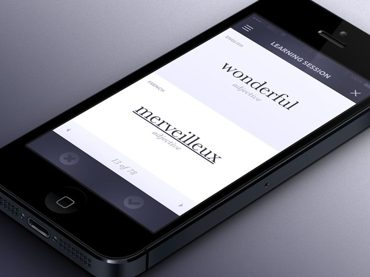 Simple vocabulary learning app based on revising flashcards.