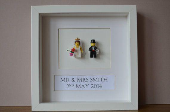 Personalised Framed Classic Lego Wedding Gift made par FankleFox